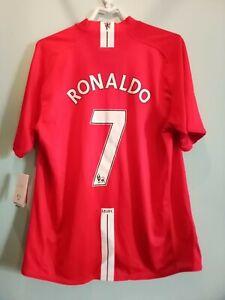 Manchester United Men's T-shirt 2007- Ronaldo-Nike-Size L