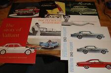 Original 1953 - 1973 Plymouth Sales Brochure Lot of 46 56 58 60 61 62 63 64 65