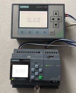 Siemens Logo 8 DC 24V / Erweiterung DM 8 24 Transistor Ausgänge + Text Display