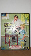"11-1/2"" x 14-1/2"" WHITMAN DENNIS THE MENACE FRAME TRAY PUZZLE - 1960"