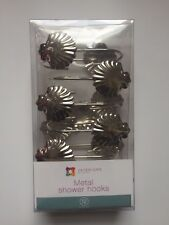 New Silver Chrome Shower Curtain Liner Hooks Set Of 12 Interiors By Design Nr