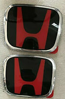 JDM Red & Black H New Emblem Front and Rear For 2018-2019 Accord 4DR Sedan Coupe