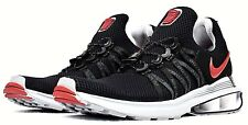 NEW NIKE SHOX GRAVITY MEN'S RUNNING SHOES BLACK RED LIFESTYLE SNEAKERS
