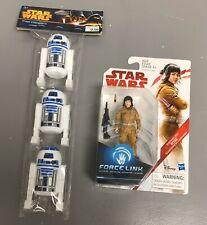 "Star Wars  RESISTANCE TECH ROSE Force Link Sealed 3.75"" Figure Plus R2D2 Treat"