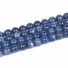 BLUE KYANITE GEMSTONE BLUE GRD A MARQUISE OVAL TOPDRILL 12X6MM LOOSE BEADS 7.5/""