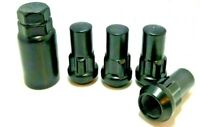 4 x BLACK ALLOY WHEEL LOCKING NUTS FORD TRANSIT CUSTOM  M14 x 1.5 19MM BOLTS
