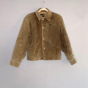 Vintage 1970s Wrangler Men's Sz M Corduroy Jacket Faux Sherpa Lined Snap Front