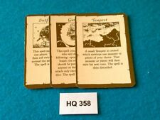 Heroquest/RPGWarhammer Quest - Air Spell Cards x3 - HQ358