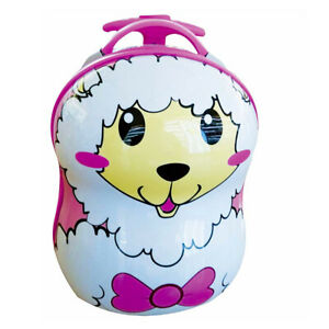 CEG Trolley Piccolo Pecora Valigia per bambini Kids con ruote animal sheep gi...