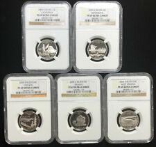 2005 S Silver State Quarters 25C Set Slabbed NGC PF 69 ULTRA CAMEO 5 Coins B2c