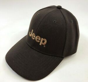 NEW NWOT JEEP Wrangler Cherokee Brown Acrylic Simple Strap Back Baseball Hat Cap