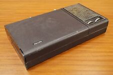 PHILIPS 70er PLATTENSPIELER TRAGBARER KOFFER VINTAGE 70s Batterie RECORDPLAYER