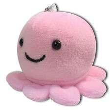 Pink Baby Octopus Round Soft Plush Toy Stuffed Animal Keychain Cute New