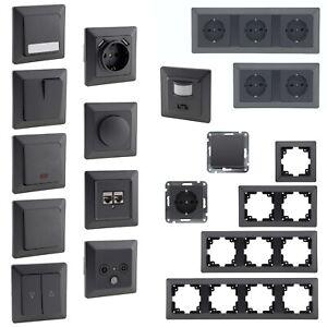 MILOS Schalterserie für Unterputz, Licht-Schalter Doppel-Steckdose Kombischalter