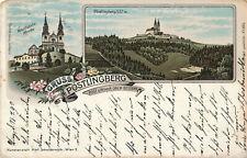 PK AK Oberösterreich Linz Pöstlingberg Litho gelaufen 1897 nach Bludenz