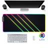 LED Gaming Mauspad Kunst neon design RGB XXL Groß Mausunterlage PC Mat Mousepad