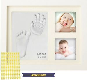 MyMiniJoy Baby Handprint and Footprint Picture Frame Kit with Letter Set
