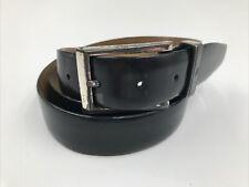 Brioni Vintage Dress Belt - Black Leather - High Gloss Size 42 44