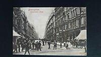 Birmingham, Corporation Street Street Scene Hartmann 1904 Postcard