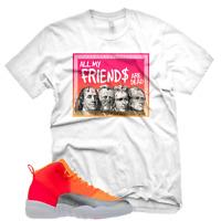 """New White """"DEAD PRESIDENTS"""" T Shirt for Jordan Retro 12 XII Hot Punch"""