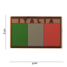 Toppa 3D Patch Scretch TAN ITALIA Bandiera ITALIANA in PVC DESERT con velcro