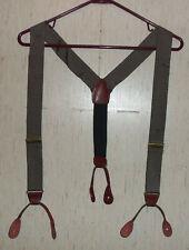EXCELLENT Mens PORTFOLIO PERRY ELLIS BLACK PINSTRIPE Suspenders BRACES