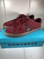 Converse Courtlandt Ox Suede Shoes Sneakers Dark  Black 16257C Mens Size 10