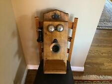 Antique Cracraft-Leich Electric Co Oak Wall Phone