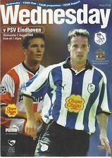 Sheffield Wednesday v. PSV Eindhoven (friendly) 2000-2001