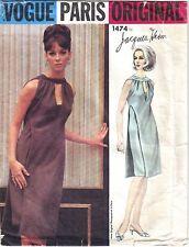 FF ORIGINAL 1960's Vogue Paris Original Jacques Heim Dress Sewing Pattern 1474
