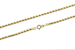 """BRAND NEW 14K Yellow Gold 1.5-5mm Italy Rope Chain Twist Link Necklace 16"""" - 30"""""""