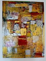 ALEXANDRE PONS/Abstrait contemporain  pièce unique grand  format 130x97 cm