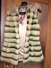 Fox & Rabbit Fur Hooded Vest