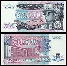 Zaire  20000 Zaïres  1-7-1991  Pick 39  SC = UNC