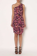 🌱 Brand New Womens Witchery Viscose One Shoulder Print Cocktail Dress Size 14