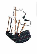 New Scottish Highland Bagpipe With full silver mounts and Free Carrying Bag