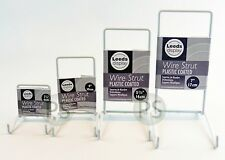 "White Wire Strut Display Stand : 6-35cm, 2-5"" to 14"" : Small, Medium, Large, Set"