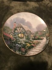 "Thomas Kinkade ""Chandler's Cottage"" Collector's Plate 1991"