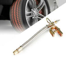 4x Braided Dual Tire Valve Stem Extension Adaptors Stainless Steel For Truck RV