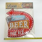 Vintage Sign Fresh Beer Pop Up Wall Decor With Self Adhesive Sticker LED Lights