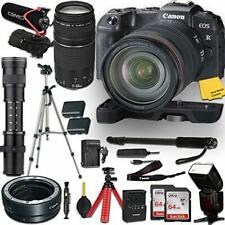 Canon EOS RP Mirrorless DSLR Camera and 3 Lenses + Pro Accessory Kit