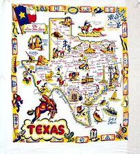 Vtg Style TX Texas Souvenir Flour Sack Kitchen Dish Tea Towel Cowboy Horse