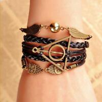 Harry Potter Golden Snitch Deathly Hallows Costume Metal Braided Bracelet