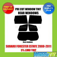SUBARU FORESTER ESTATE 2008-2011 5% LIMO REAR PRE CUT WINDOW TINT