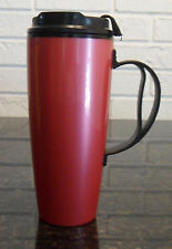 22 OZ PINK CORAL DELUXE INSULATED THERMO SERV TRAVEL MUG WITH CLOSEABLE LID