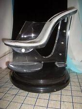 "7"" High Heel Wedge Clear Slide Mule Slip On 3"" Platform Lady Gaga Gothic Spiky"