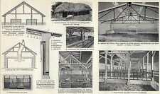 Old print barn stable antique / stal schuur stall boerderij 1910