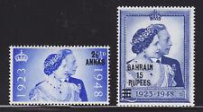 Bahrain Sc 62-63 MNH. 1948 Silver Wedding, cplt set
