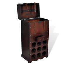 Portabottiglie cantinetta vino per 9 bottiglie+cassetto+vano