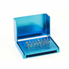 Dental Burs Holder 58-Hole Polishing Brush Cup Block Box Case Blue Autoclavable